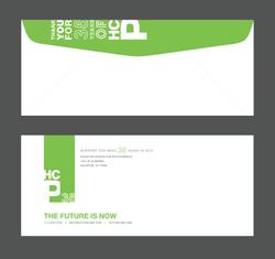 #10 envelope, front and back