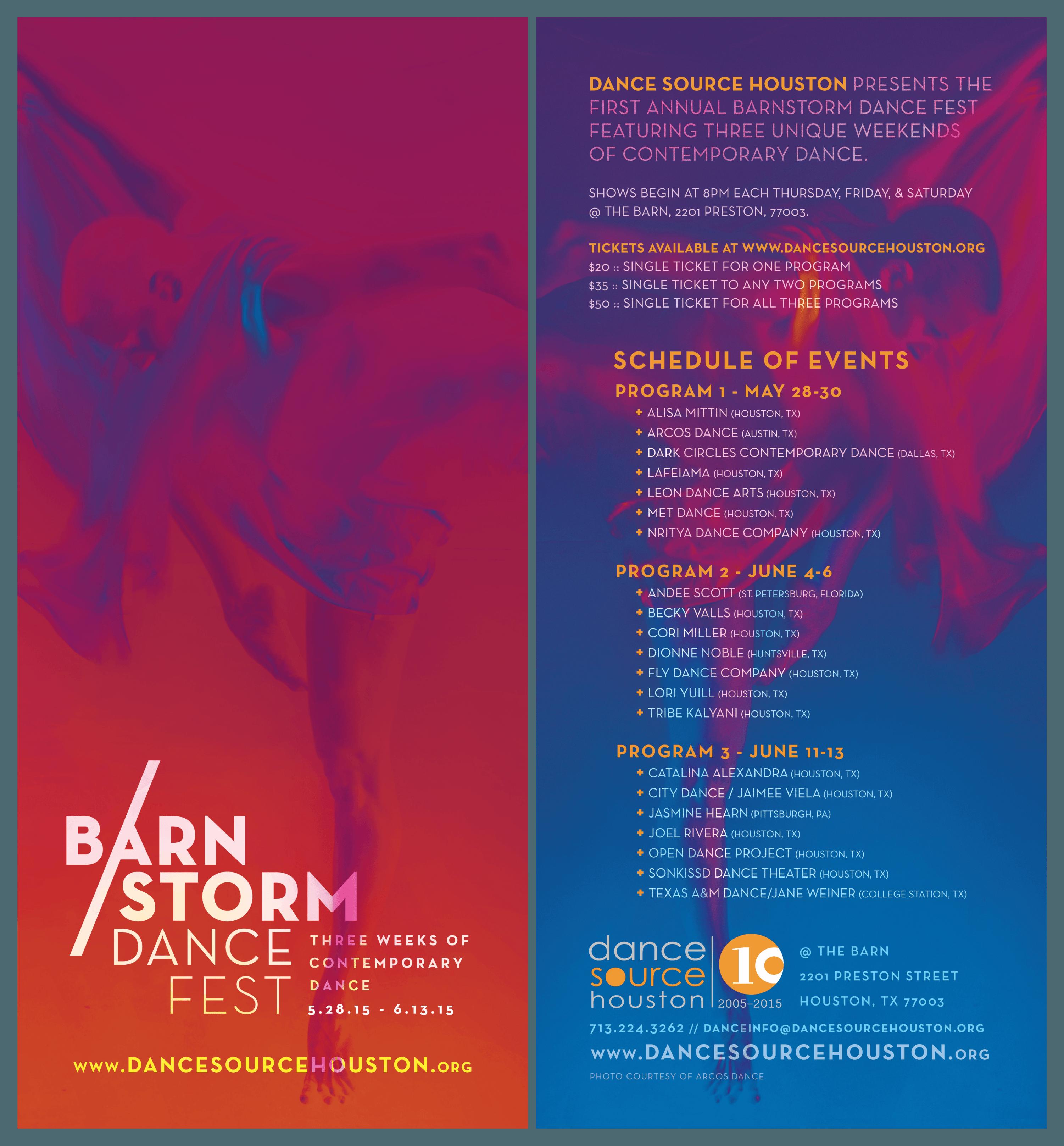 2015 Barnstorm rack card