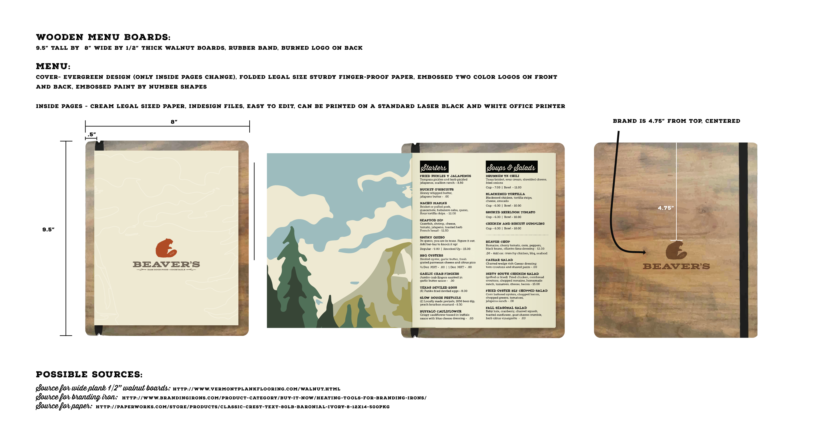 Menu Board Mock-Up