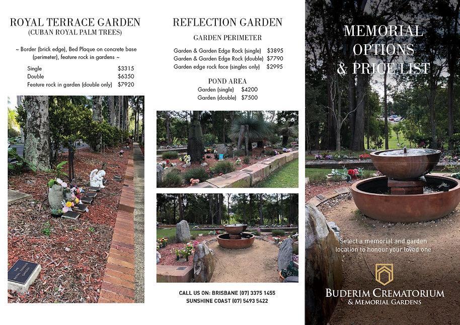 Premier Memorialisation DL folded brochu