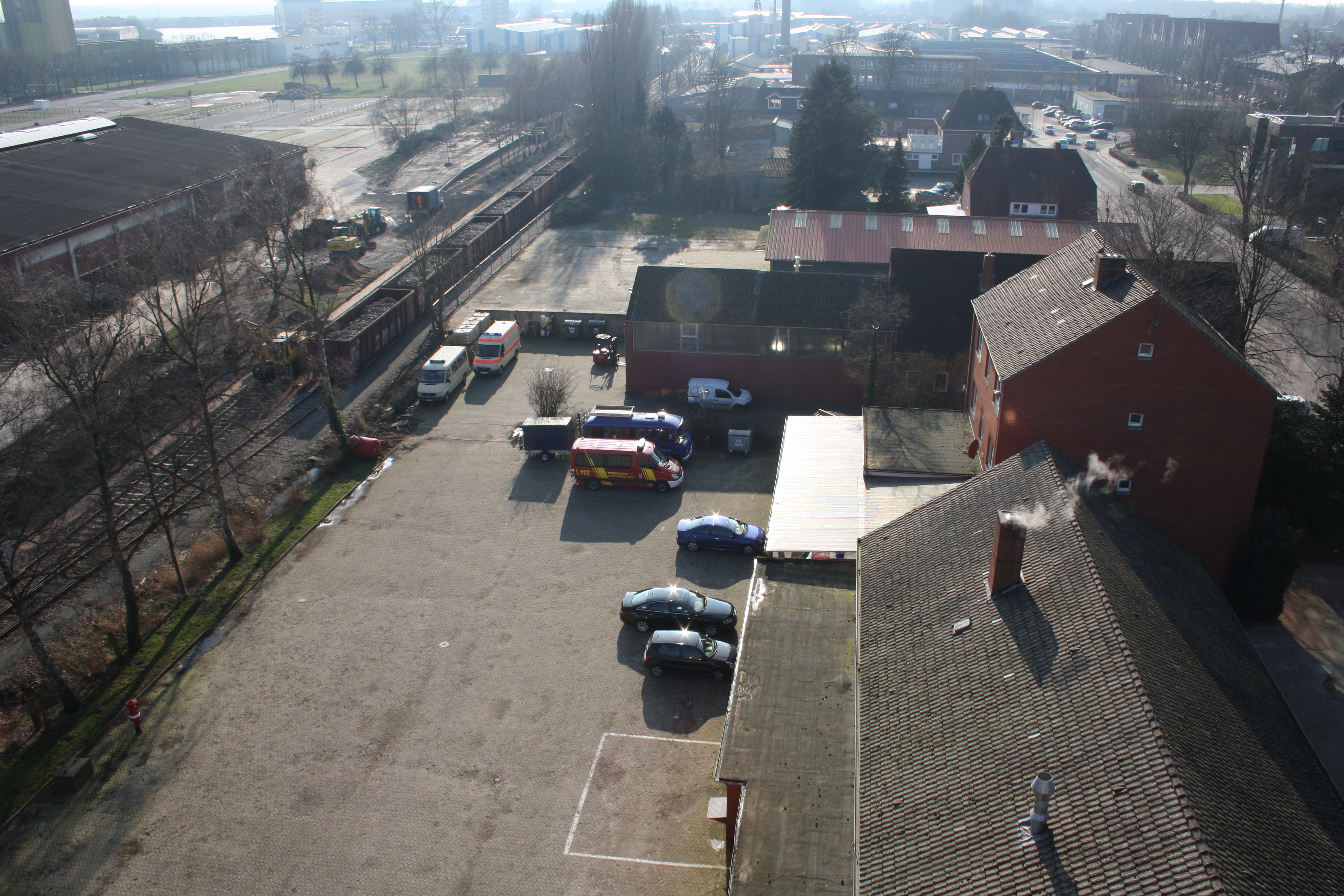 Blick von oben aus dem Schlauchturm