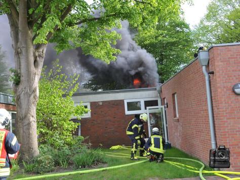 Feuer im Kindergarten mit großem Schaden