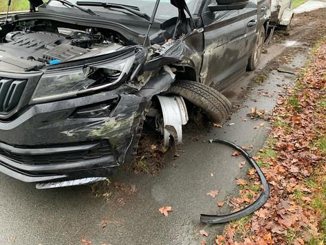 Verkehrsunfall mit drei Fahrzeugen - B70 kurzzeitig voll gesperrt