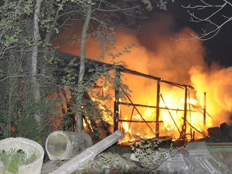 Brand eines landwirtschaftlichen Gebäudes