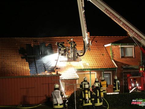 Dachstuhlbrand an landwirtschaftlichen Gebäude