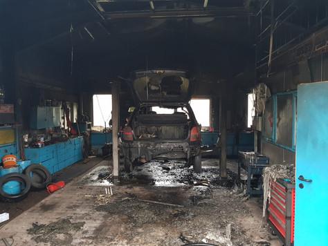 Werkstattbrand in Westoverledingen