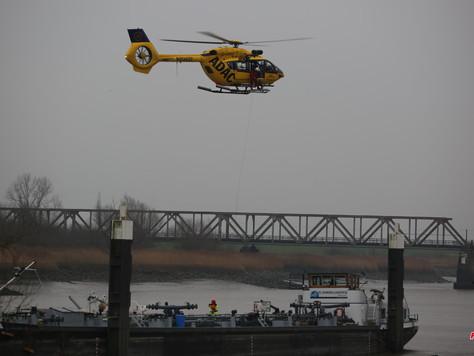 Medizinischer Notfall auf Schiff sorgte für aufwendigen Rettungseinsatz