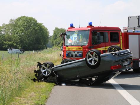 Schwerer Verkehrunfall auf der Autobahn