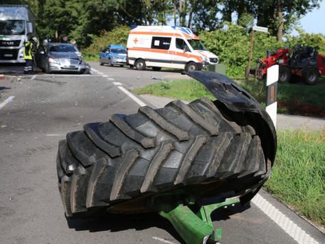Verkehrsunfall im Begegnungsverkehr