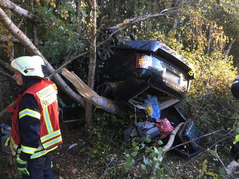 Verkehrsunfall mit drei schwer Verletzten Frauen auf der A28
