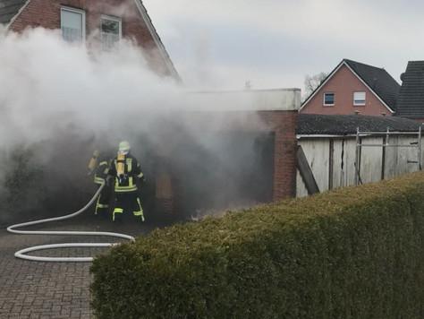 Garagenbrand in Holterfehn
