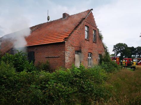 Brand in leerstehendem Gebäude