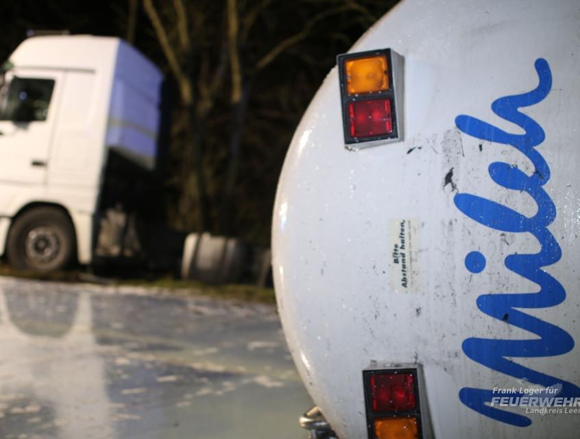 16-Tonnen Milchkonzentrat liefen aus dem Auflieger aus