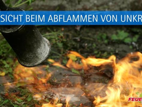 """Vorsicht beim Einsatz von """"Abflammgeräten"""""""