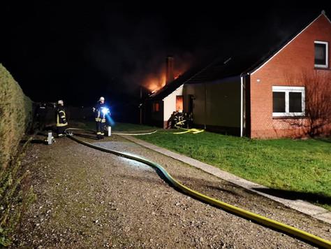 Brand eines leerstehenden Hauses