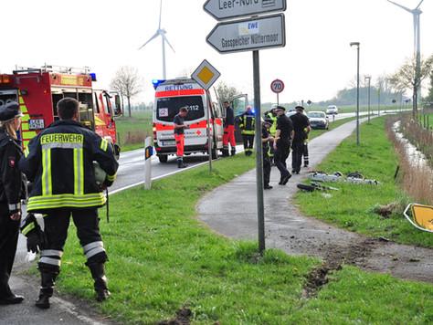 Verkehrsunfall mit tödlich verletztem Motorradfahrer