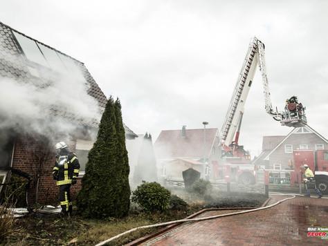 Gebäudebrand in Weener