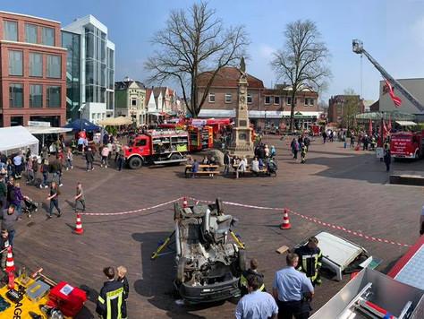 Feuerwehr in der Fußgängerzone