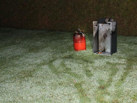 Gasofen brannte im Wintergarten