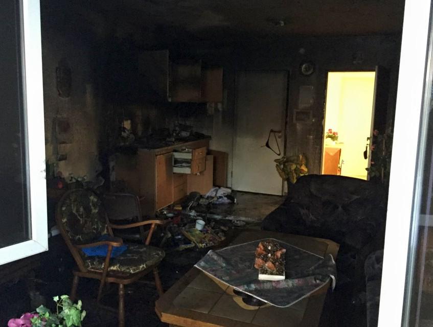 Das Feuer war an einer Küchenzeile ausgebrochen
