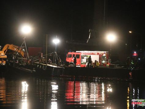 Kutter im Leeraner Hafen gesunken