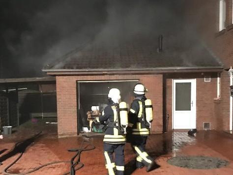 Garagenbrand in Ostrhauderfehn