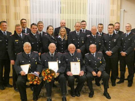 Jahreshauptversammlung der Ortsfeuerwehr Völlenerfehn und der Löschgruppe Mitling Mark