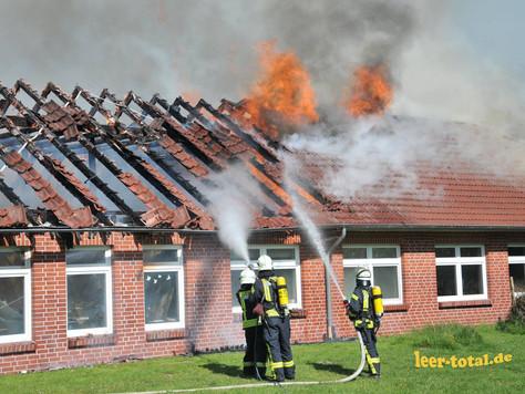 Förderschule in Loga komplett ausgebrannt