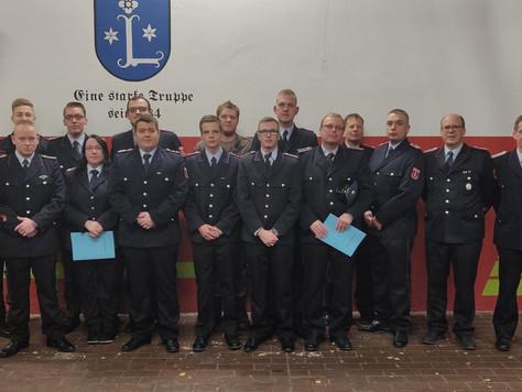 Jahreshauptversammlung der Feuerwehr Leer