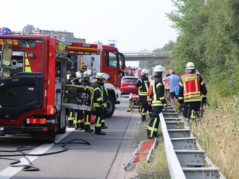 Schwerer Verkehrsunfall auf der A31