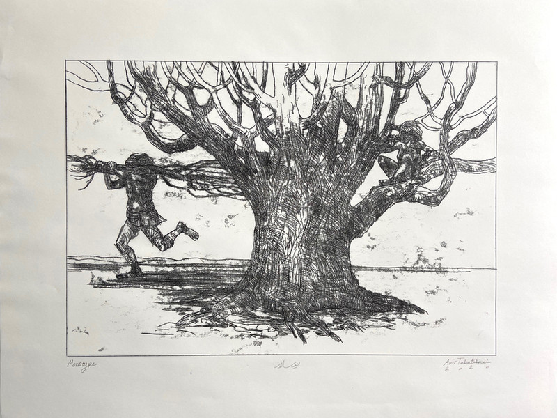 Divsalar-18x24in-2020-Monotype-تاراج