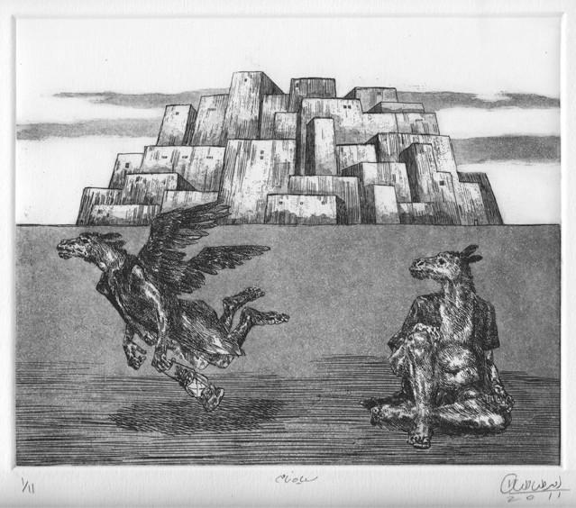Bleak-18.5x22-etching,aquatint-سیاه نامه