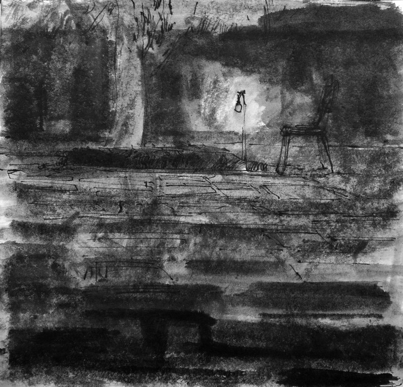Bleak-23x23cm-Ink-سیاه نامه