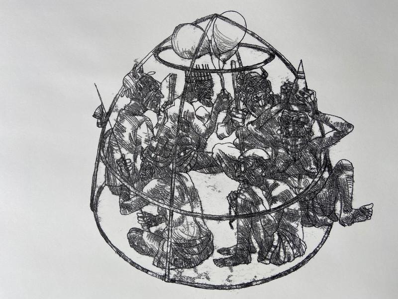 Divsalar-18x24in-2020-Monotype-دور باطل