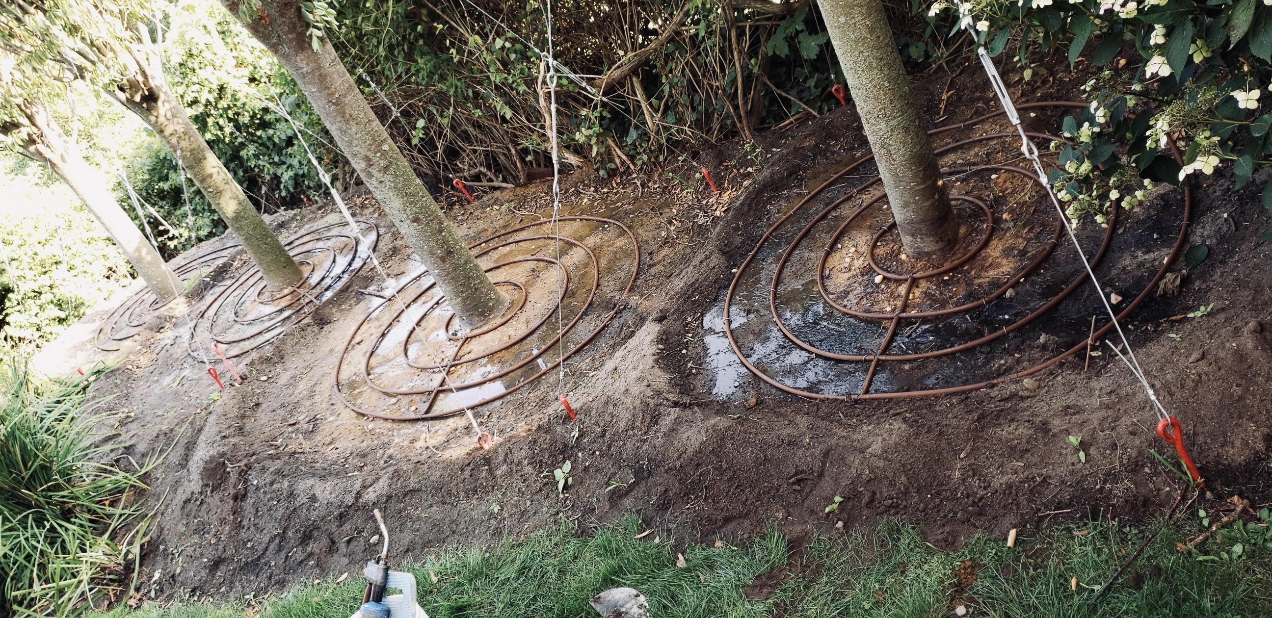 Mike Santos Irrigation - Irrigation Ringed Drip Install