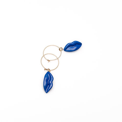 BLUE S HOOP EARRINGS