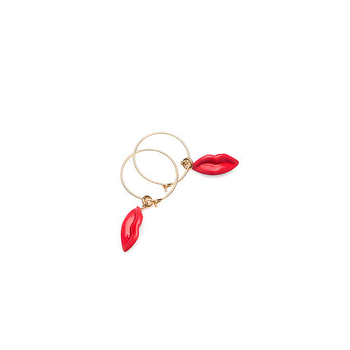 RED XS HOOP EARRINGS