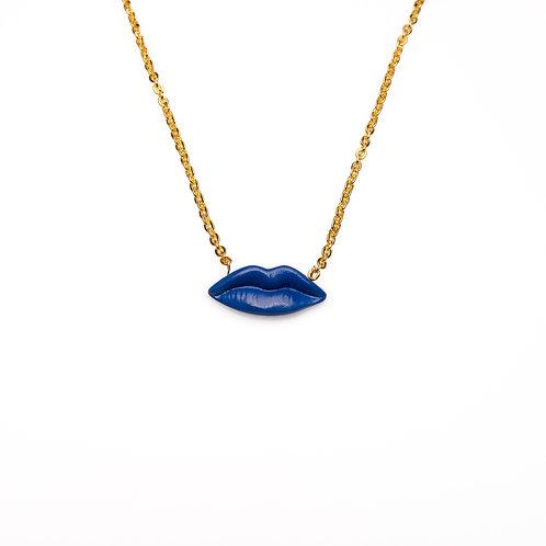 BLUE M LIPS NECKLACE