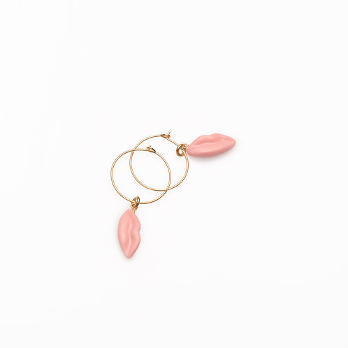 PINK XS HOOP EARRINGS