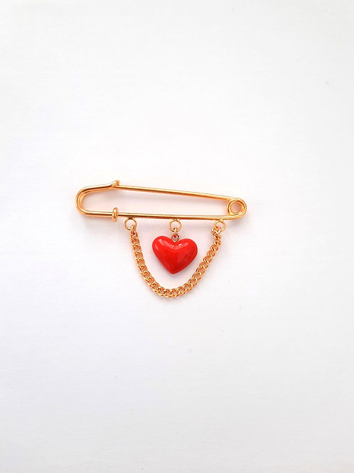 RED HEART BABY PIN