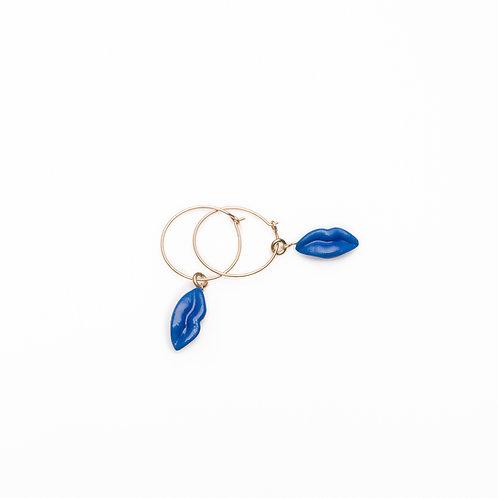 BLUE XS HOOP EARRINGS