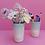 Thumbnail: SMALL CERAMIC VASE FLOWER HOLDER WITH LIPS