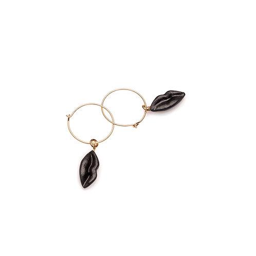 BLACK XS HOOP EARRINGS