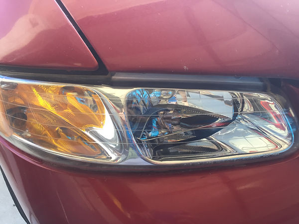 After Headlight Cleaning Restorations Services