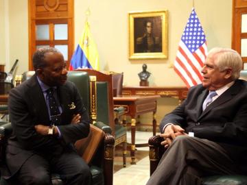 Omar Barboza se reunió con el encargado de negocios de EEUU