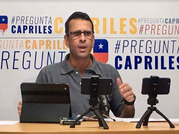 """""""Debate urgente"""" pide Capriles a la oposición para afrontar la crisis venezolana"""