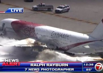 15 heridos por incendio de avión en Fort Lauderdale con destino a Venezuela