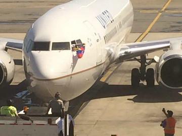 United Airlines realizó último vuelo desde Venezuela