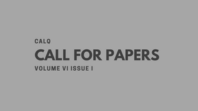 Call for Papers   Volume VI Issue I