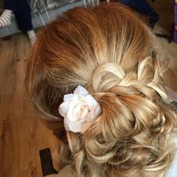 Hair Up today 💖 •••••••• #sarahclarkeha